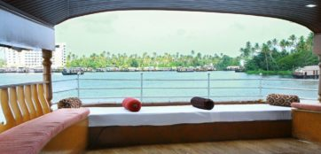 Upper deck area in alleppey houseboat