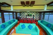 Lobby area of alleppey houseboat