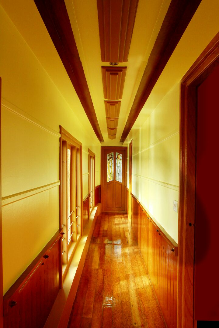 Corridor in Alleppey Houseboat